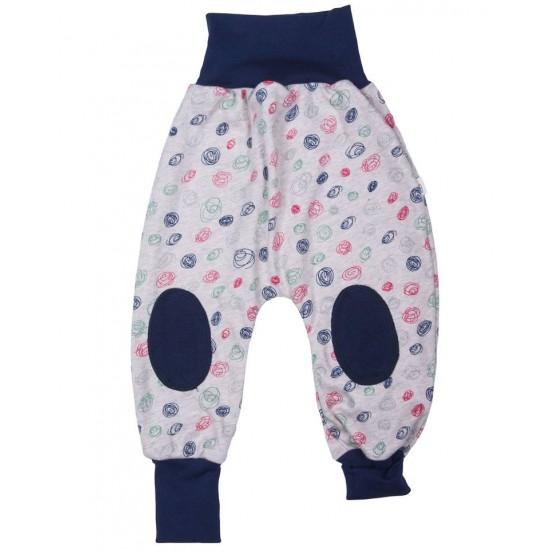 Pantaloni Salvari Joga din bumbac organic - Iobio - Scribble