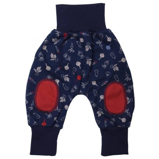 Pantaloni Salvari Joga din bumbac organic - Iobio - Cipollino Red