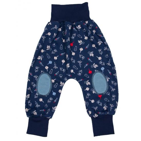 Pantaloni Salvari Joga din bumbac organic - Iobio - Cipollino Blue