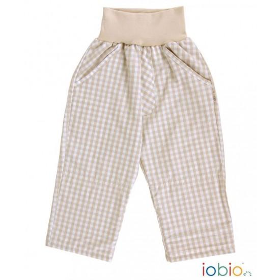 Pantaloni Salvari din bumbac organic - Iobio - Palermo Karo Sand Blue