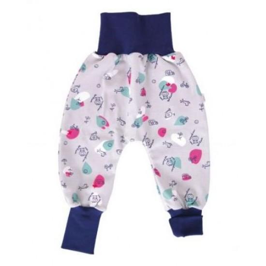Pantaloni Salvari Joga din bumbac organic - Iobio - Foggy Town