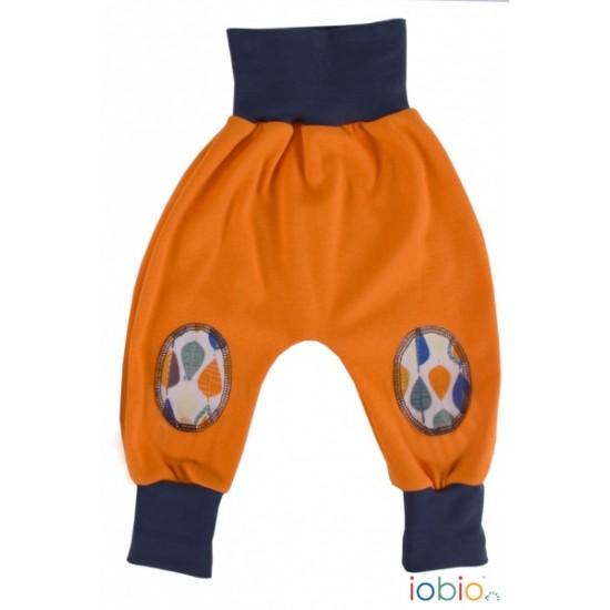 Pantaloni Salvari Joga din bumbac organic - Iobio - Orange Melange