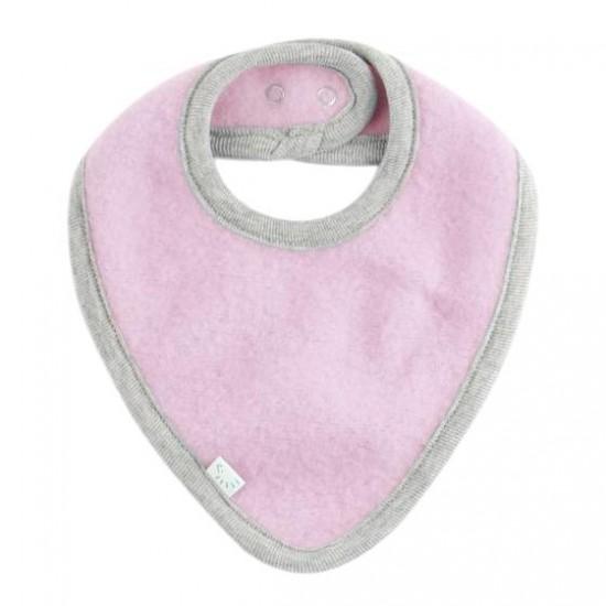 Bandana groasa din lana merinos organica fleece reglabila cu capse - Iobio - Cotton Candy