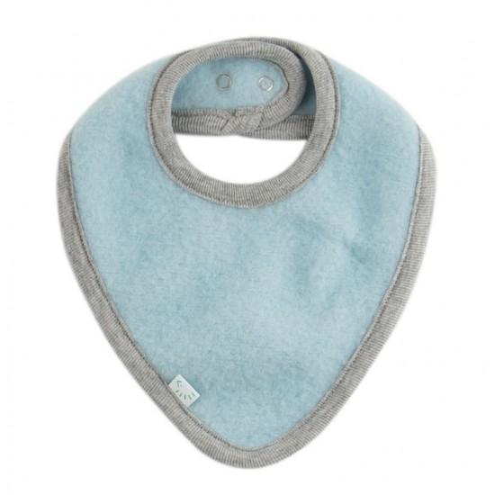 Bandana groasa din lana merinos organica fleece reglabila cu capse - Iobio - Celestial Blue