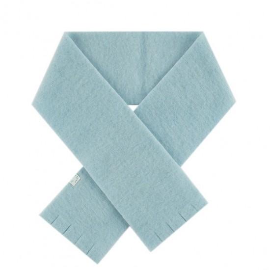 Fular gros din lana merinos organica fleece - Iobio - Celestial Blue