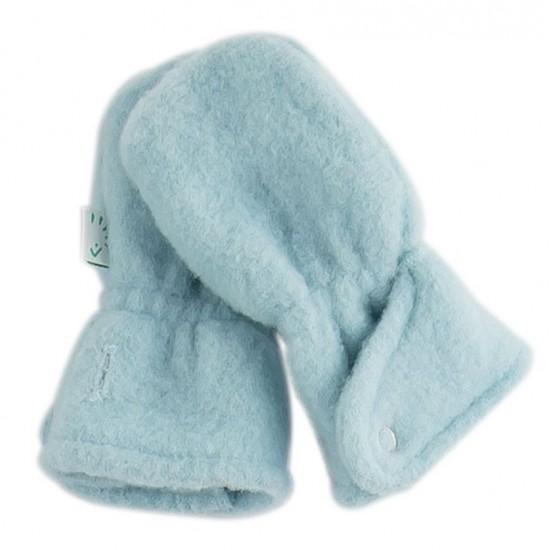 Manusi groase din lana merinos organica fleece - Iobio - Celestial Blue