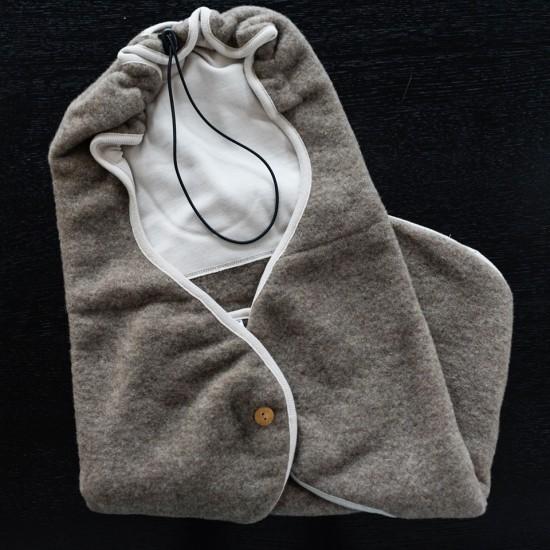 Husa scaun auto Iobio-wool fleece-Light Grey