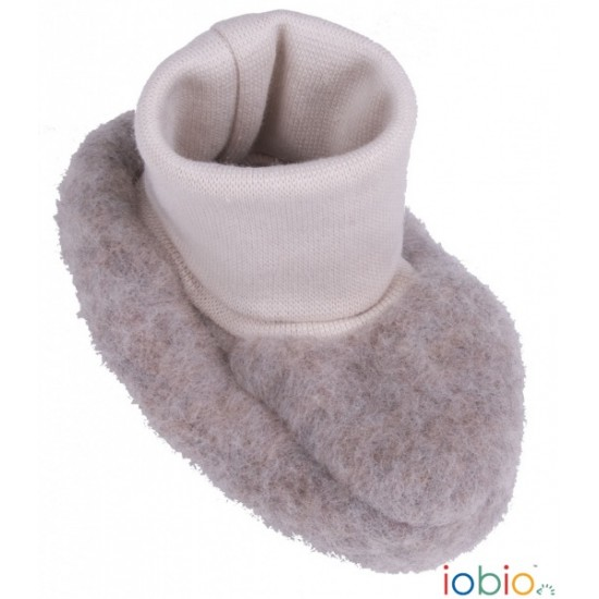 Botosei din lana merinos organica fleece - Iobio - Caffe Latte