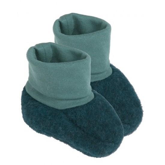Botosei din lana merinos organica fleece - Iobio - Emerald