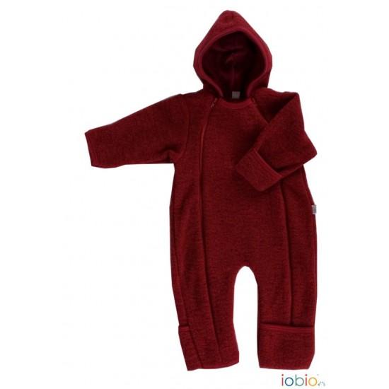Overall babywearing din lana merinos organica - wool fleece - Iobio - Cassis