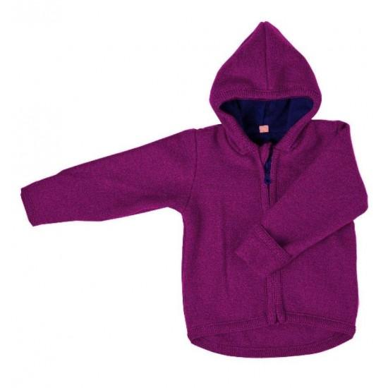 Jacheta din lana merinos organica - wool fleece - Iobio - Viola