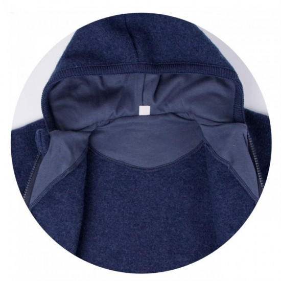 Overall din lana merinos organica - tumble/boiled wool - Iobio - Sapphire Blue