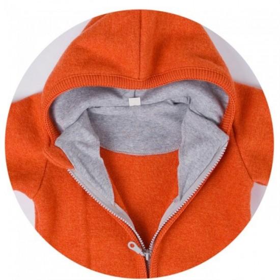 Overall din lana merinos organica - tumble/boiled wool - Iobio - Anthracit