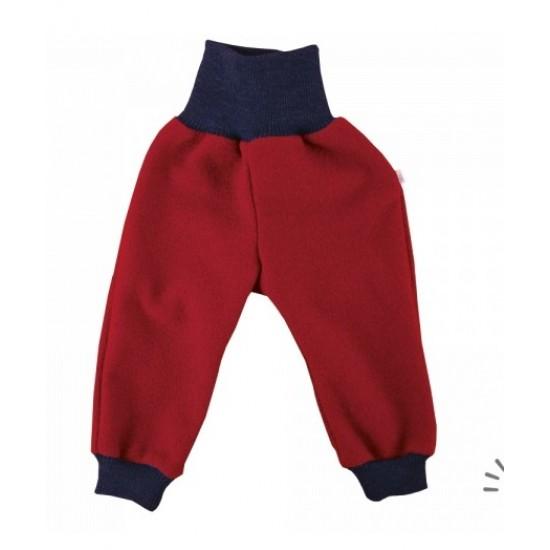 Pantaloni din lana merinos organica - tumble/boiled wool KbT - Iobio - Ruby