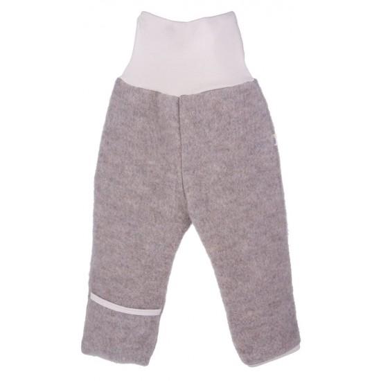 Pantaloni din lana merinos organica - wool fleece - Iobio - Caffe Latte