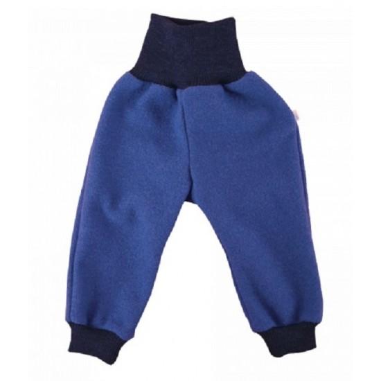 Pantaloni din lana merinos organica - tumble/boiled wool KbT - Iobio - Indigo