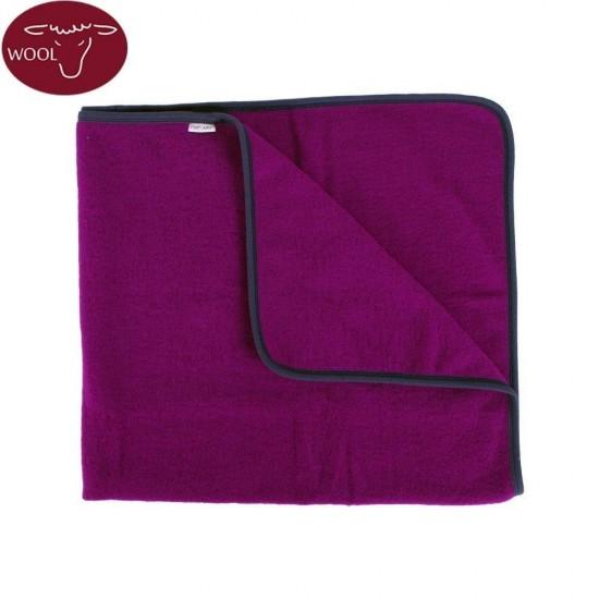 Paturica din lana merinos organica - wool fleece - 90x70 cm - Iobio - Viola