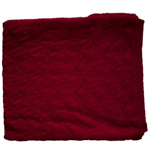 Cassis - Paturica din lana merinos organica impletita - 90x90 cm - Iobio