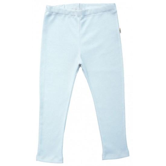 Pantaloni fini din lana merinos si matase - Iobio - Albastru Senin