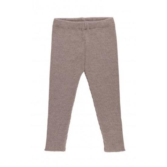 Pantaloni din lana merinos rib - Iobio - SAM - Beige Melange