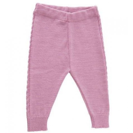 Pantaloni din lana merinos tricotata - Iobio - Limited Edition - Fleur Rose
