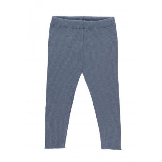 Pantaloni din lana merinos rib - Iobio - SAM - Grey-Blue