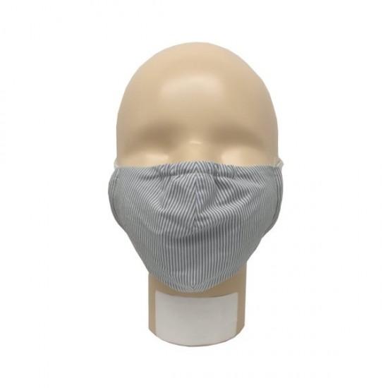 Masca pentru adulti refolosibila, din bumbac organic, cu filtru - Iobio Popolini - Fine Stripes