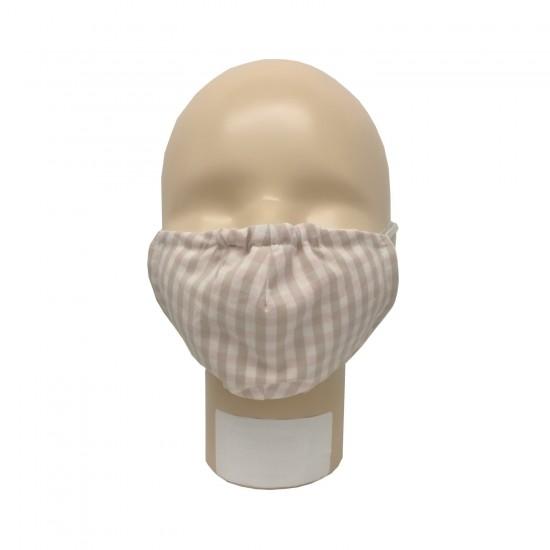 Masca pentru adulti refolosibila, din bumbac organic, cu filtru - Iobio Popolini - Karo Sand Rose