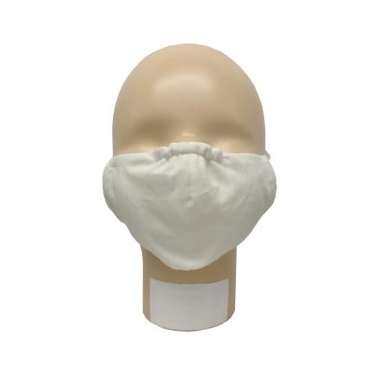 Masca pentru adulti refolosibila, din bumbac organic, cu filtru - Iobio Popolini - Ecru