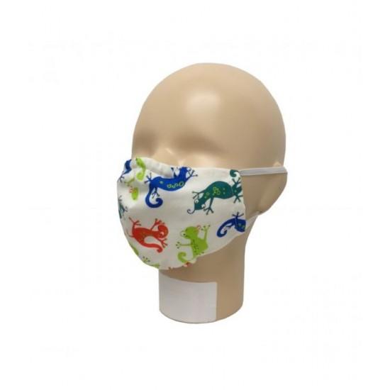 Masca pentru adulti refolosibila, din bumbac organic, cu filtru - Iobio Popolini - Ghecko