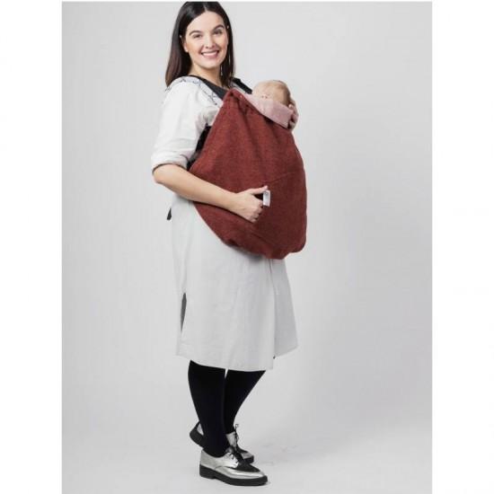 Protectie de lana merino Warm Clever Cover Isara - Terra-Cotta