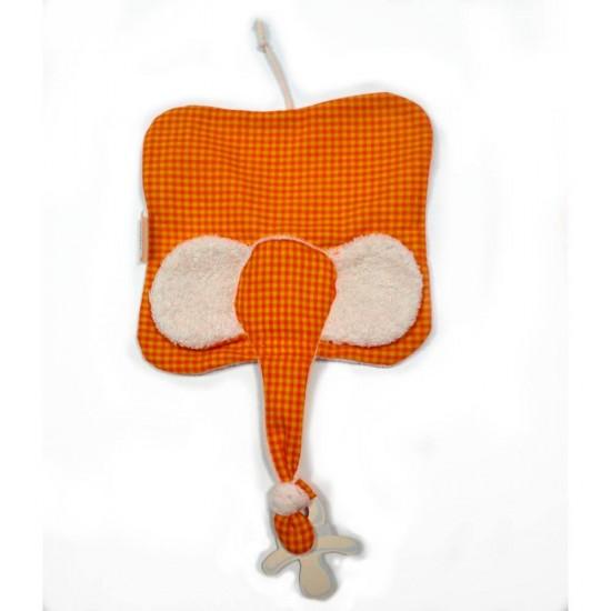 Jucarie textila din bumbac organic - Keptin Jr - Elly Orange