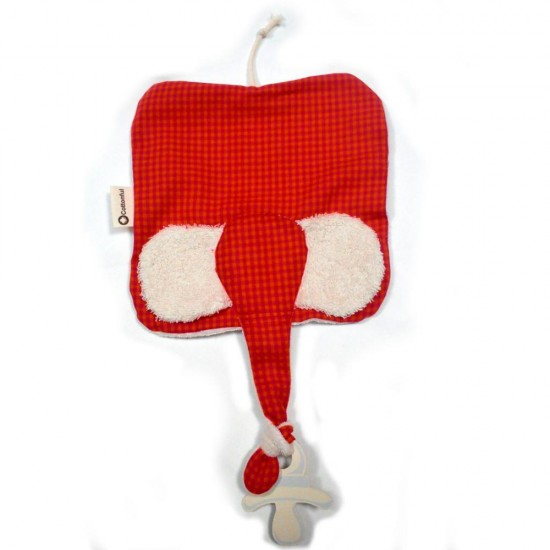 Jucarie textila din bumbac organic - Keptin Jr - Elly Red