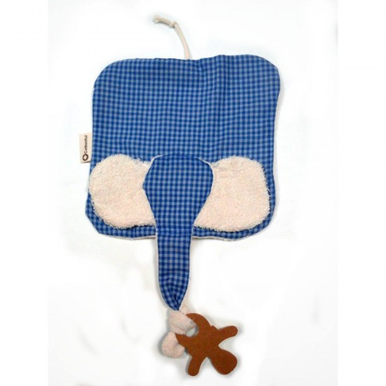 Jucarie textila din bumbac organic - Keptin Jr - Elly Blue