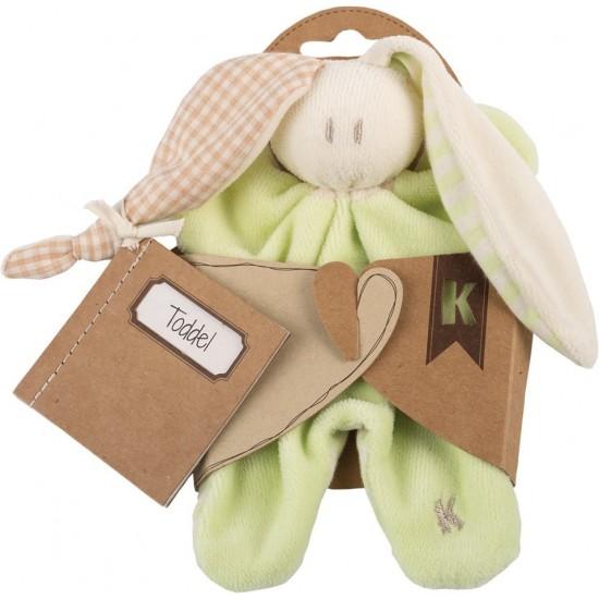 Jucarie zornaitoare textila din bumbac organic - Keptin Jr - Little Toddler Lime
