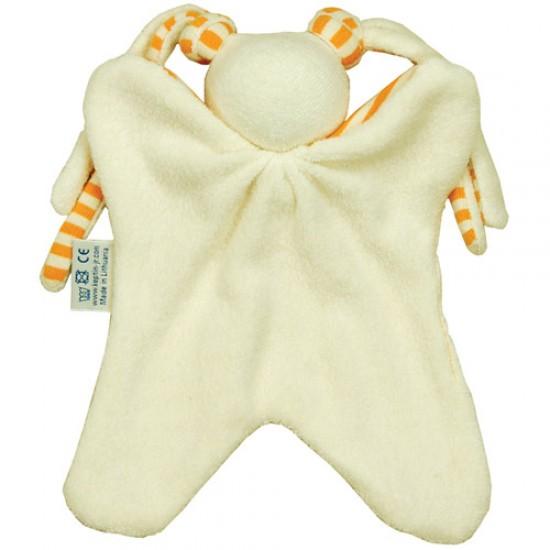 Jucarie textila din bumbac organic - Keptin Jr - Little Girly Orange