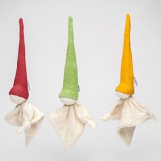 Jucarie zornaitoare textila din bumbac organic - Keptin Jr - Little Zmooz Orange