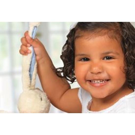 Jucarie textila din bumbac organic - Keptin Jr - Tjumm Pink Shawl