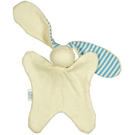 Jucarie textila din bumbac organic - Keptin Jr - Doggo Blue