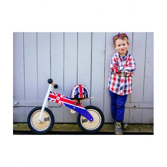 Bicicleta de echilibru Kiddimoto Kurve Union Jack
