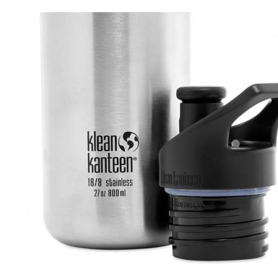 Recipient din otel inoxidabil 800 ml cu capac sport - Klean Kanteen - Classic Winter Plum