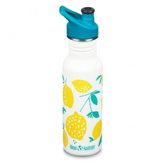 Classic Narrow Lemons - Recipient din otel inoxidabil 532 ml cu capac sport
