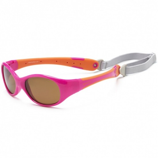 Ochelari de soare pentru copii - Koolsun Flex - Hot Pink Orange