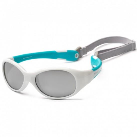 Flex - White Aqua - Ochelari de soare pentru copii -  Koolsun