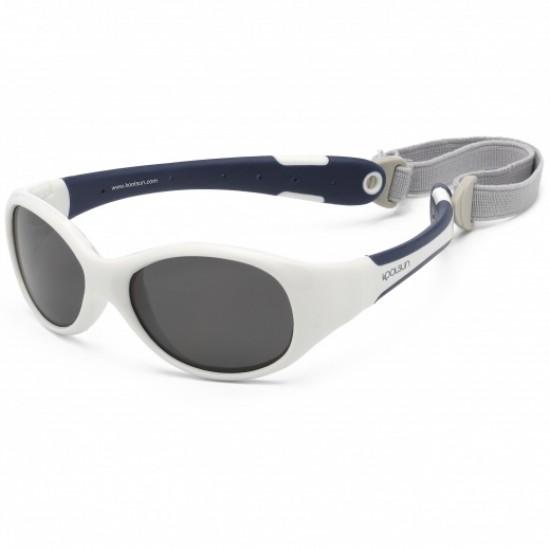 Flex - White Navy - Ochelari de soare pentru copii