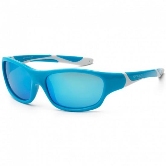 Ochelari de soare pentru copii - Koolsun Sport - Aqua White