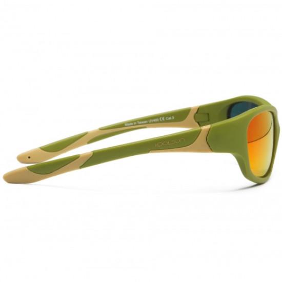 Sport - Army Green Taos Taupe - Ochelari de soare pentru copii -  Koolsun