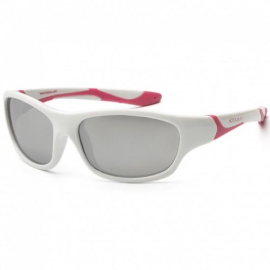 Ochelari de soare pentru copii - Koolsun Sport - White Cabaret