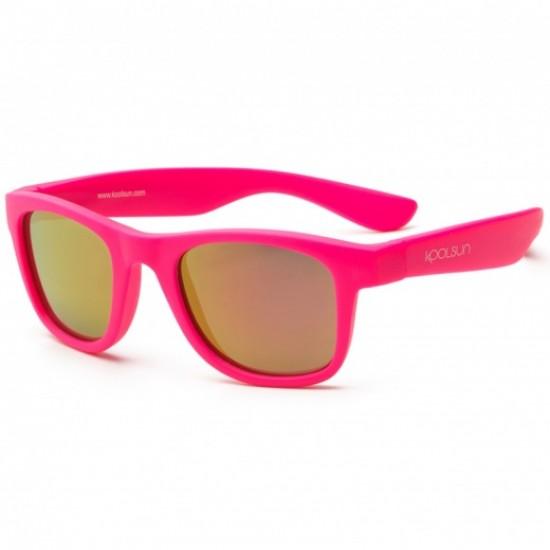 Ochelari de soare pentru copii - Koolsun Wave - Neon Pink