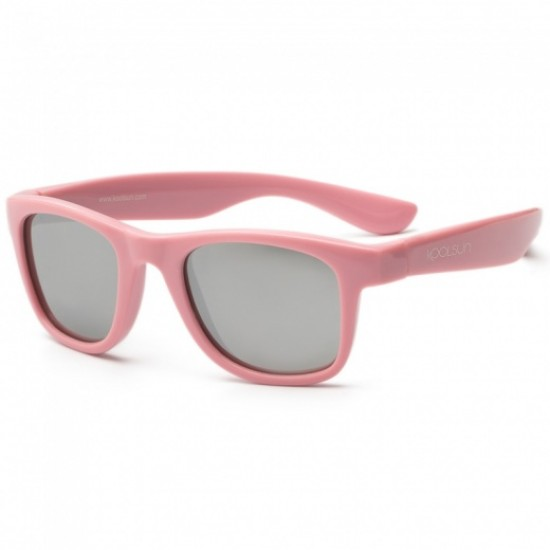 Ochelari de soare pentru copii - Koolsun Wave - Pink Sachet